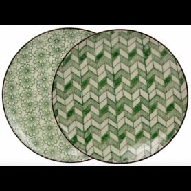 """Assiette PM """"Garden"""" dia 20,8 cmx2,5CM -  8 designs panachés : 4 floraux et 4 graphiques Ard'time"""