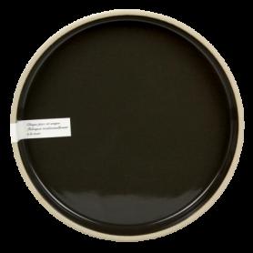 Assiette à rebord diam. 20,7 x H. 1,6 cm - bicolore sable/anthracite - collection sable en porcelaine - A création