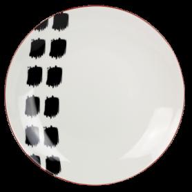 """Assiette  """" Terracotta """" en porcelaine - diam 20 x 2,7 cm - 6 modèles panachés - Ard'time"""