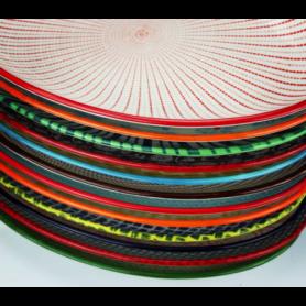 """Assiette """"Sabaë"""" - 12 coloris ethniques panachés - diam. 20,4cm - Ard'time"""