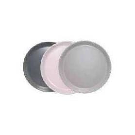 """Petite assiette en céramique """"IKO""""  diam 19 cm - 3 coloris assortis :  gris clair, gris foncé et rose pastel - Ard'time"""