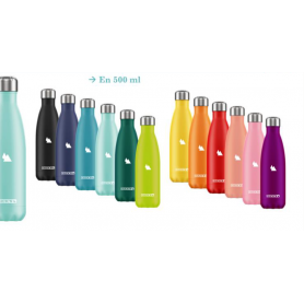 Bouteille 500ml isotherme unie 12 couleurs assorties DUCK'N