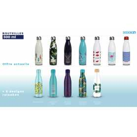 Bouteille 500ml 12 impressions assorties DUCK'N