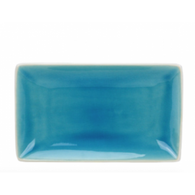 Plat rectangulaire collection Nuük - 22.7*13.5*3CM - turquoise et blanc - Ard'time
