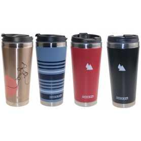 Travel Mug isotherme Duck'N en inox double paroi avec couvercle - 450ml - 4 couleurs assortis