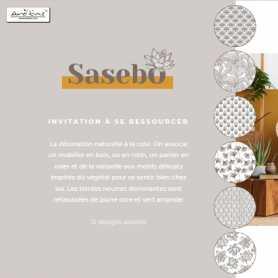 """Coupelle """"Sasebo""""en noix de coco avec intérieur laqué imprimé diam 13.5 x H 3.5 cm"""