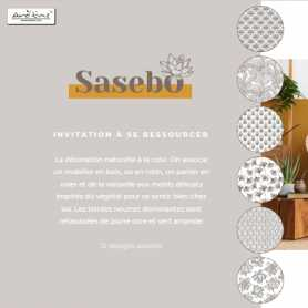 "Carafe - bouteille en verre ""Sasebo""avec rotin 1 litre 8*32cm"