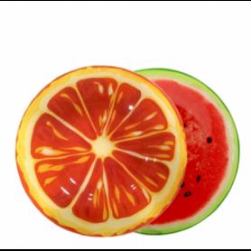 """Assiette ronde PM en verre : 20x20cm - pastèque - Collection """"Fruit"""" Ard'time"""