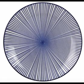 Assiette ronde PM collection Blue Lagoon - diam 21,5 * h : 2,8CM - 4 designs panachés - Ard'time